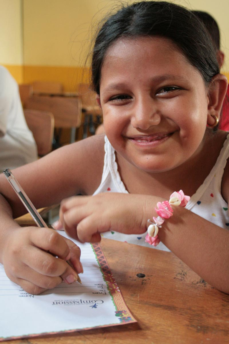 Guatemala Girl Writing Sponsor Letter
