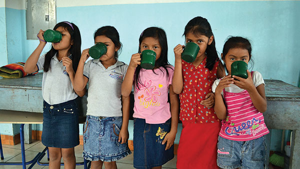 Guatemala Girls Drinking