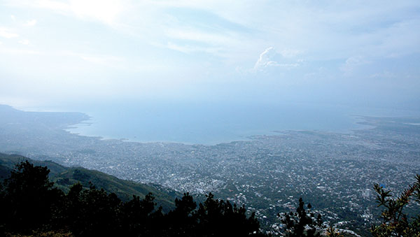 Haiti Aerial View of City