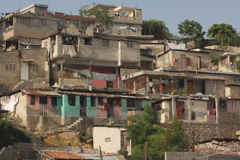 Haiti Brick Homes on Hillside