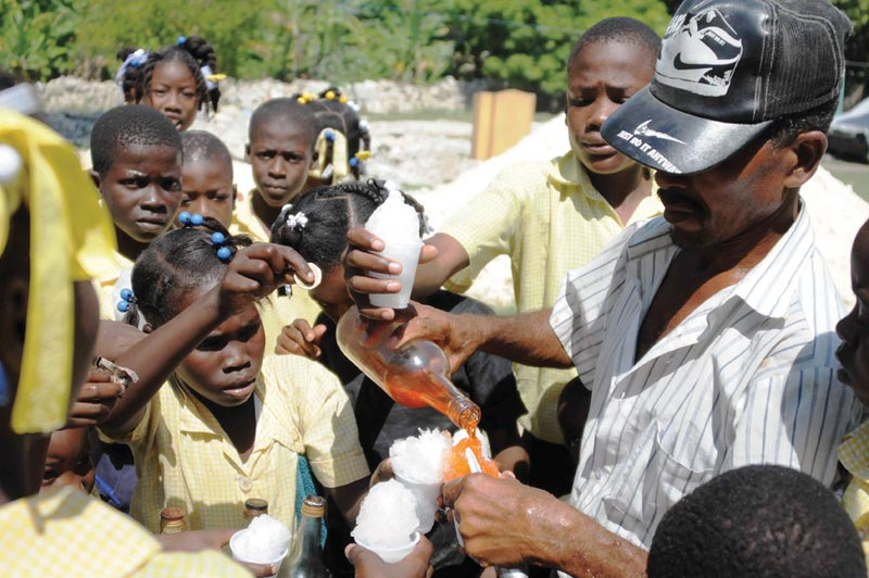 Haiti Children with Frozen Ice