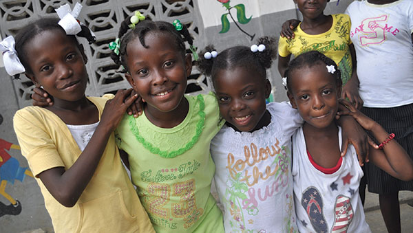 Haiti Four Smiling Girls