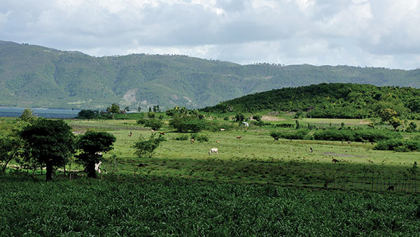 Haiti Green Countryside and Mountains