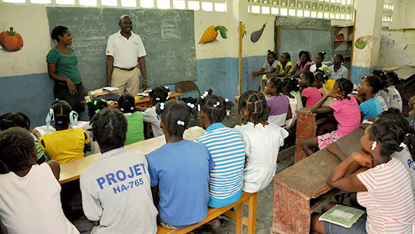 Haiti Project Facilitator Visits Classroom