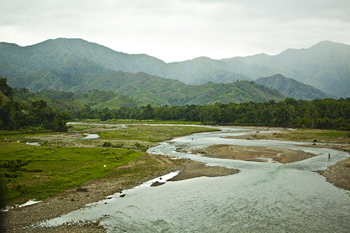 Haiti River and Mountains