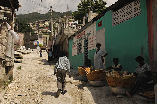 Haiti Vendors on Small Dirt Road