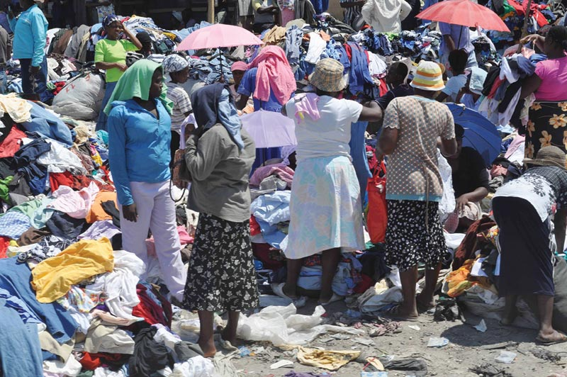 Haiti Women at Clothes Market