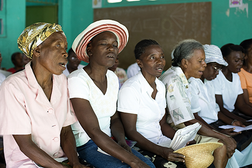 Haiti Women in Church