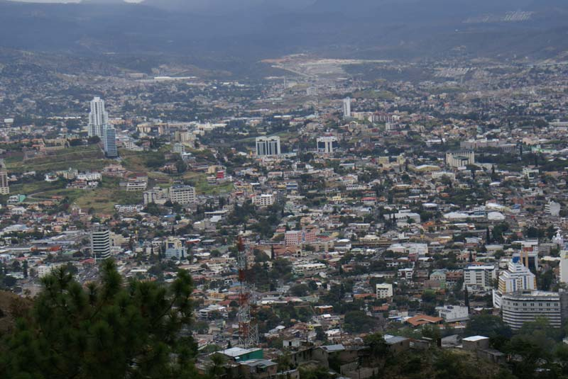 Honduras Aerial View of City