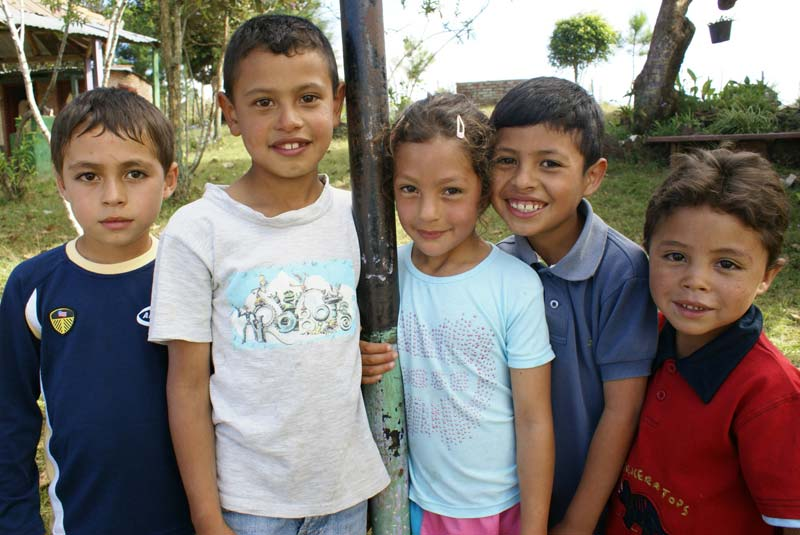 Honduras Five Smiling Children
