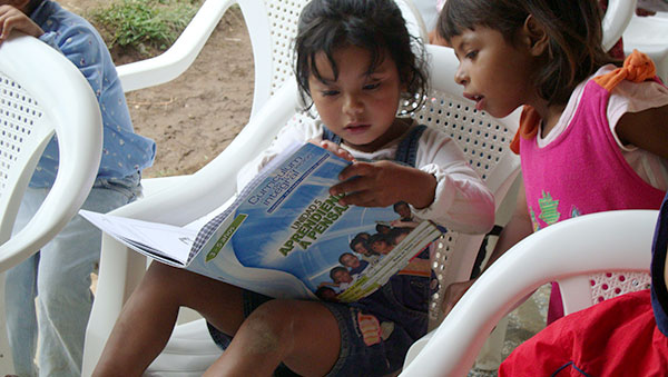Honduras Girls Reading Book