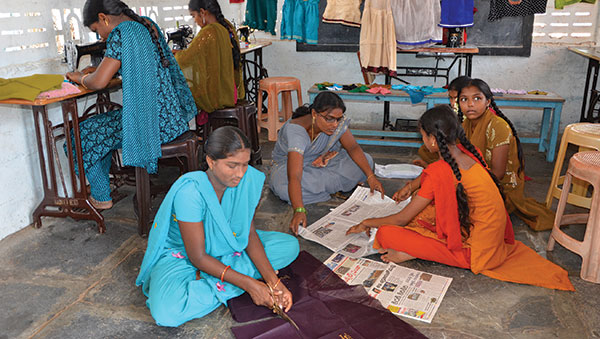 India women sewing
