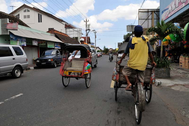 Indonesia bike taxis