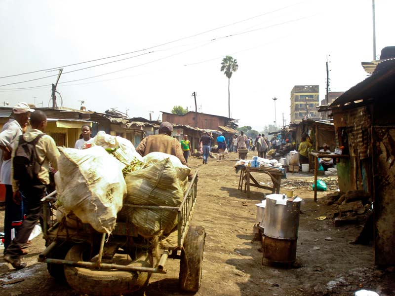 Kenya Cart in Busy Marketplace