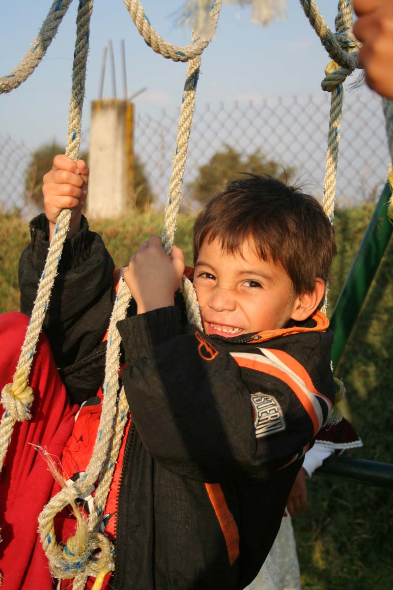 Mexico Boy Climbing Ropes