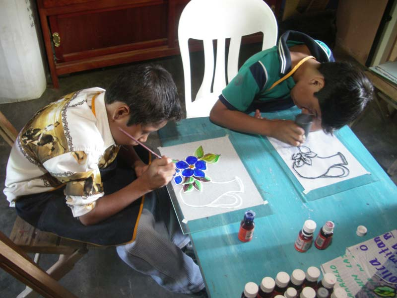 Mexico Boys Painting