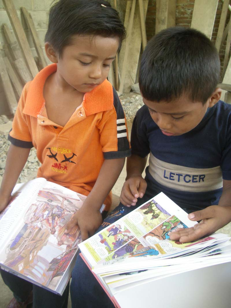 Mexico Boys Reading Books