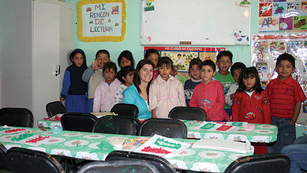 Mexico Children With Their Tutors