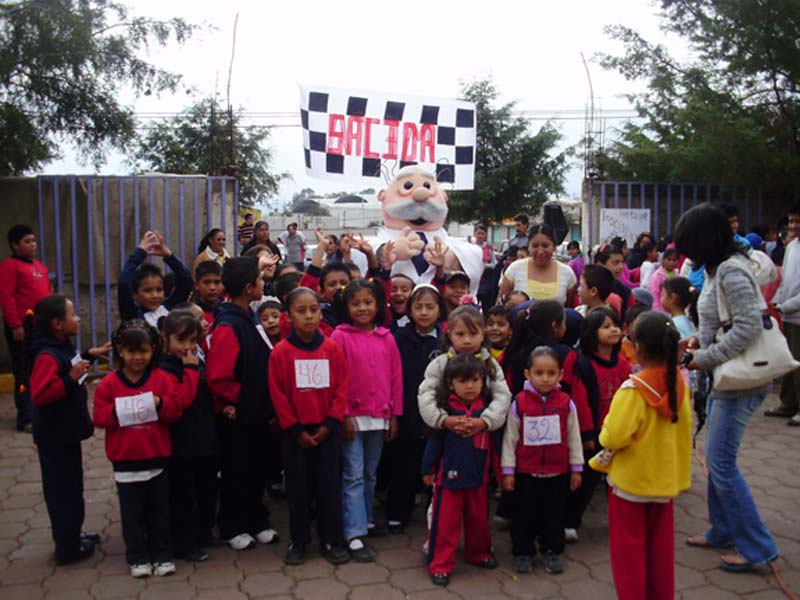 Mexico Children Standing Outside the Center