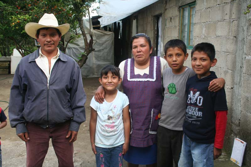 Mexico Family of Five Outside Their Home