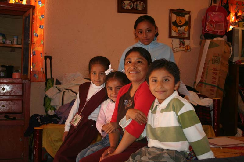 Mexico Mother and Children in a Home