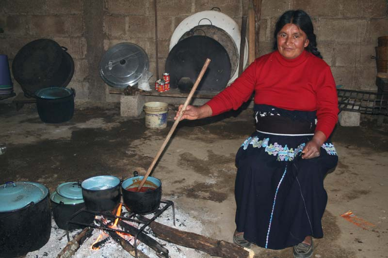 Mexico Woman at Cooking Fire