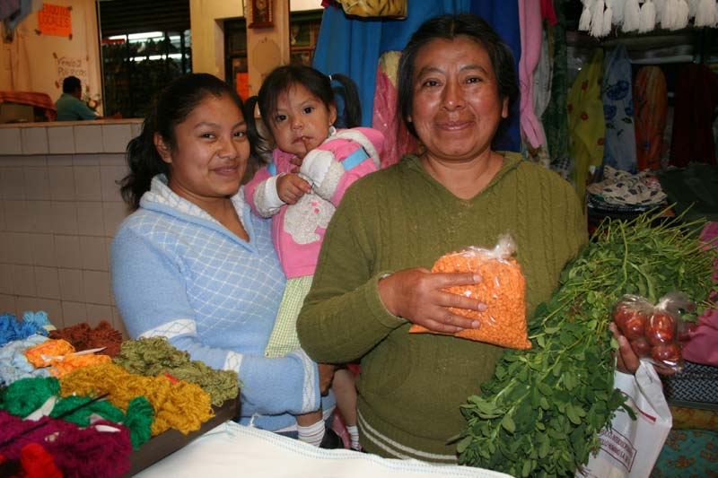 Mexico Woman With Produce