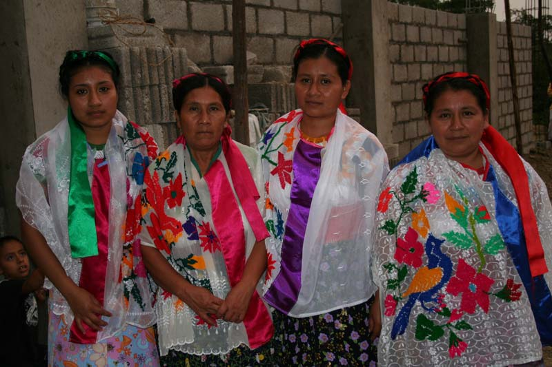 Mexico Women in Brightly Colored Dresses