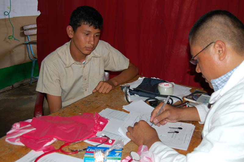 Nicaragua Boy Meeting With a Doctor