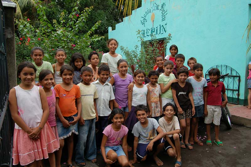 Nicaragua Children Outside of their Center