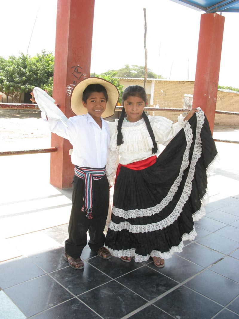 Peru Boy and Girl in Traditional Dress