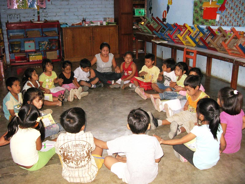 Peru Children Sitting in a Circle