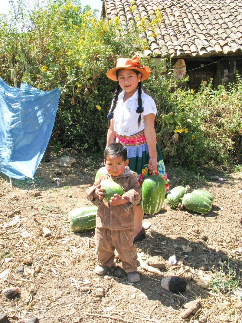 Peru Children With Watermelons
