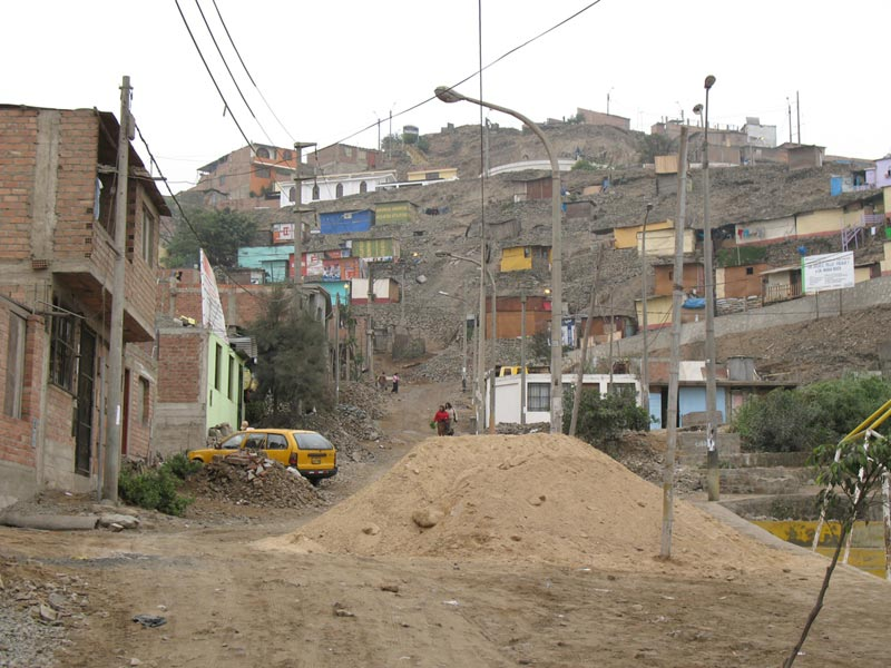 Peru Homes on a Dirt Hill