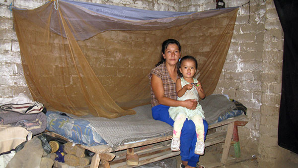 Peru Woman and Daughter with Mosquito Net
