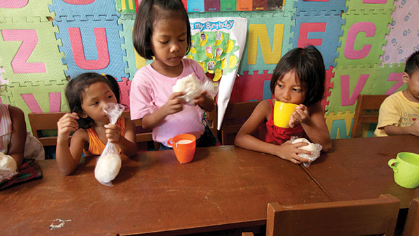 Philippines girls with cups