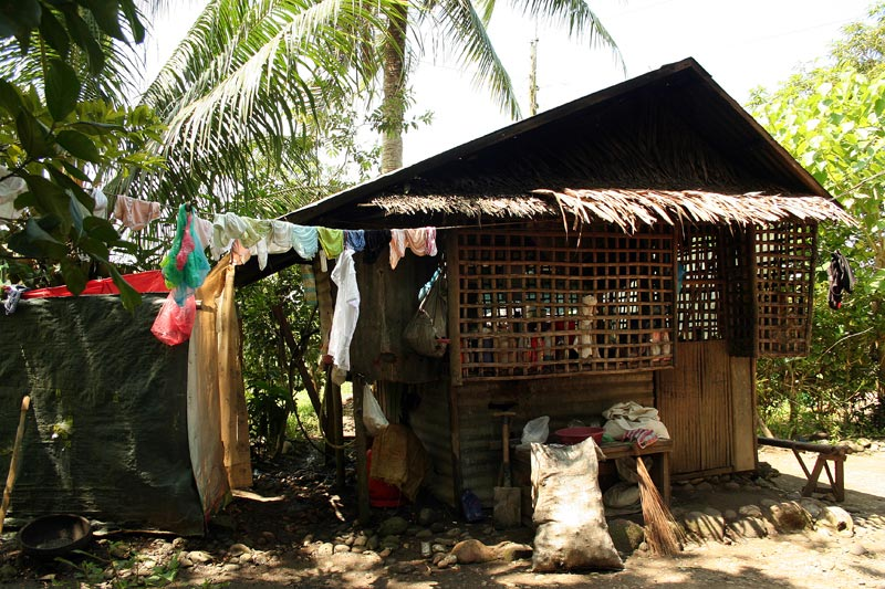 Philippines small home and hanging laundry