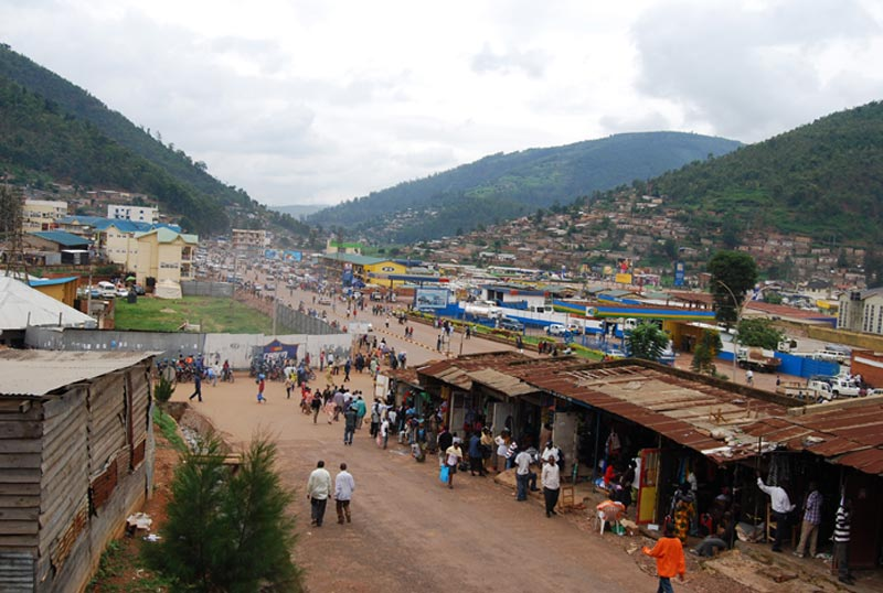 Rwanda View of Town in a Valley