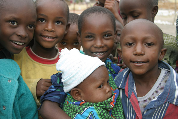 Tanzania Children and Baby Closeup