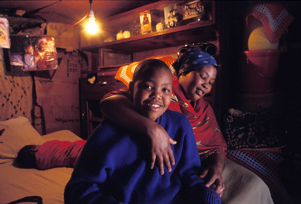 Tanzania Mother and Son in Home