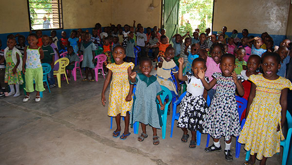 Tanzania Young Children in Church