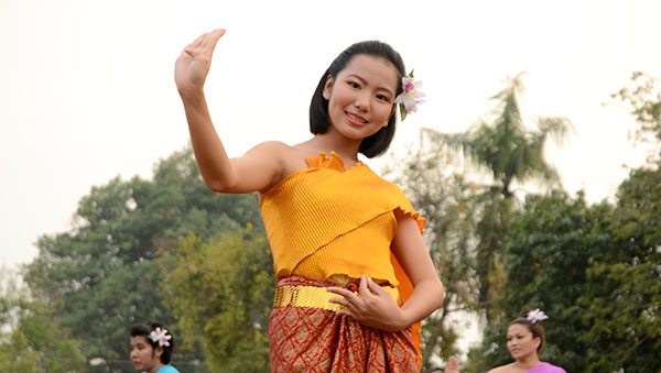 Thailand girl in traditional dress