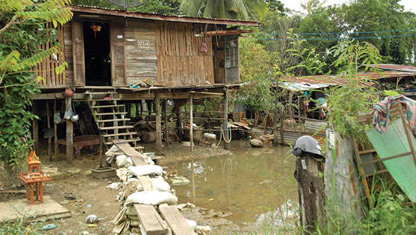 Thailand home over water