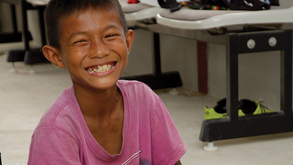 Thailand smiling boy closeup