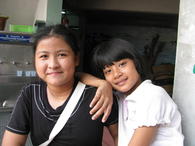 Thailand two smiling girls