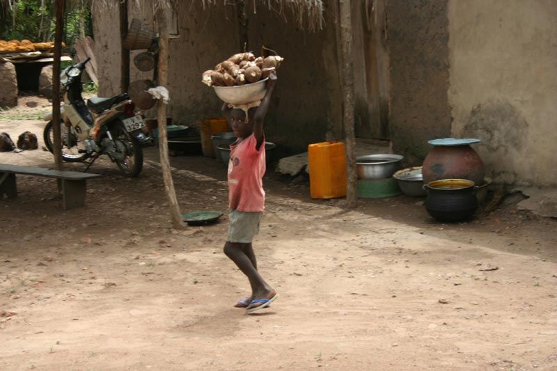 Togo Boy Carrying a Bowl on his Head