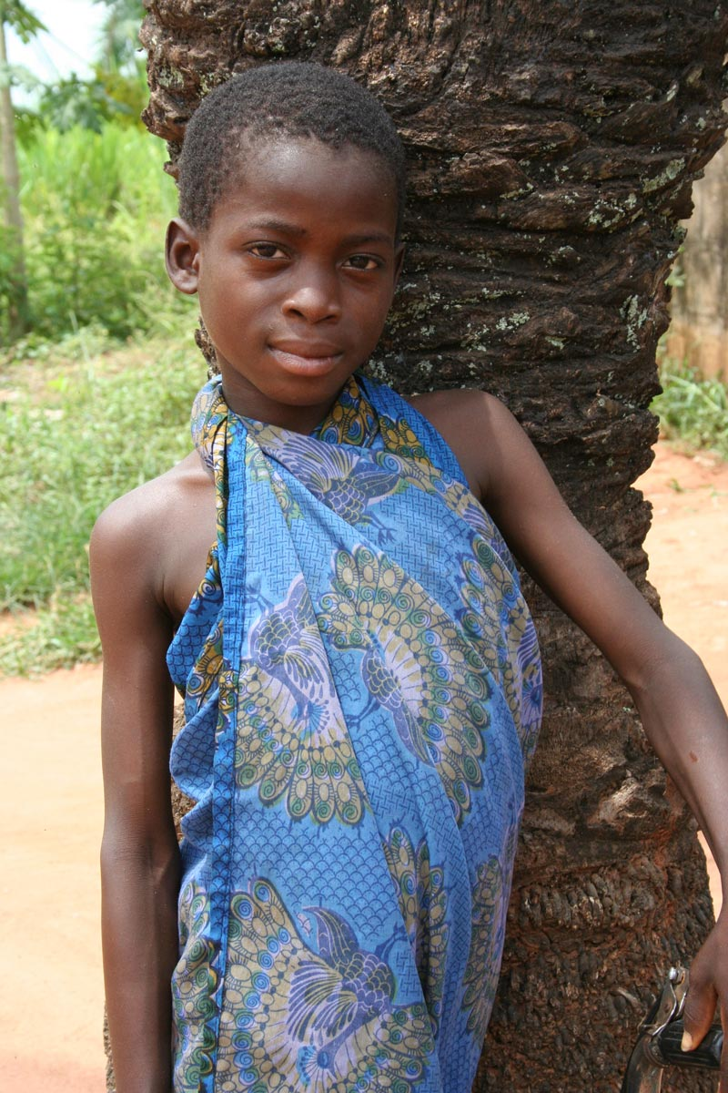 Togo Girl in a Blue Dress