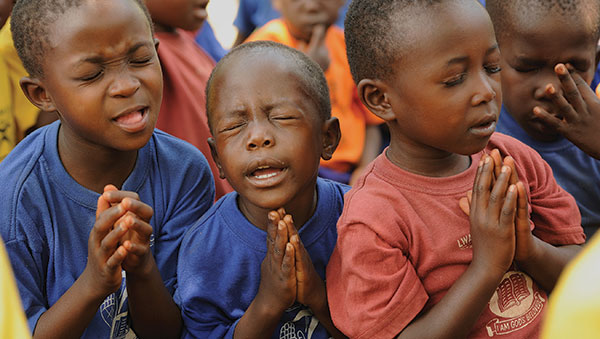 Uganda Boys Praying