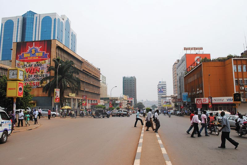 Uganda Busy Street in City