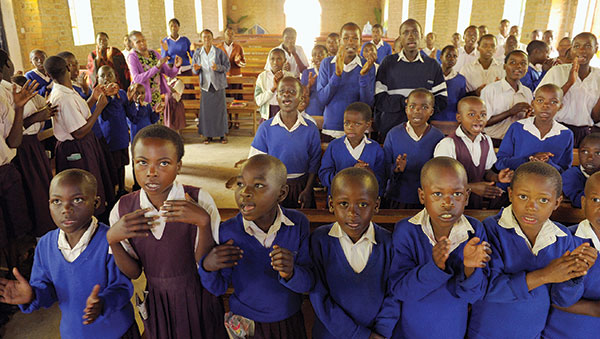 Uganda Children in Church